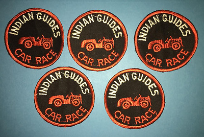 5 Lot Vintage 1960's YMCA Adventure Indian Guides Annual Car Race Patches D