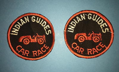 2 Lot Vintage 1960's YMCA Adventure Indian Guides Annual Car Race Patches D