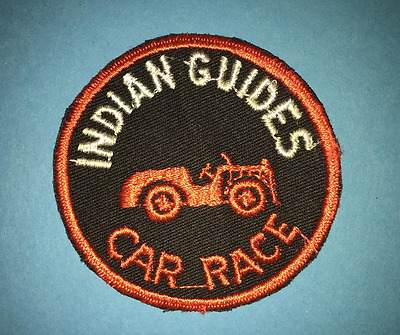 Vintage 1960's YMCA Adventure Indian Guides Annual Car Race Badge Patch Crest D