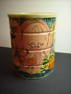 """Vintage Jungle Scene Folgers Can - 6-1/2"""" Tall"""