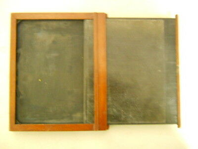 "Vintage Antique Wooden Film Holder, Two Sided, 5 1/4"" X 7 1/8"""