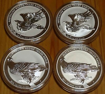 2014/15/16/17 BU Aust. 1 oz Silver Wedge Tailed Eagle coins - RARE 4 coin set