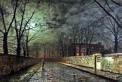 Silver Moonlight Painting by John Atkinson Grimshaw Art Reproduction