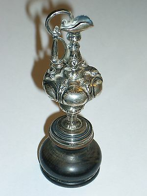 SALE-Miniature Sterling Silver Antique America's Cup Trophy Yacht Racing Claret