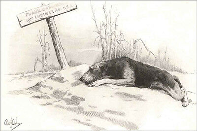 Airedale Terrier Dog  Grieving at  Grave New  Large Note Cards by Robert Dickie