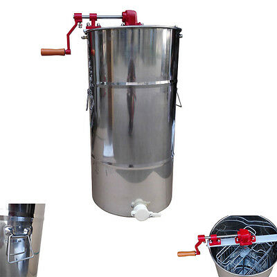 High Quality 2 Frame Honey Extractor Stainless Steel Beekeeping Equipment New