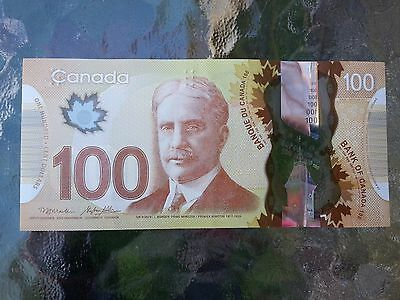 Canadian $100 Dollar Bank Note Polymer Bill FKW6631164 Circulate 2011 Canada