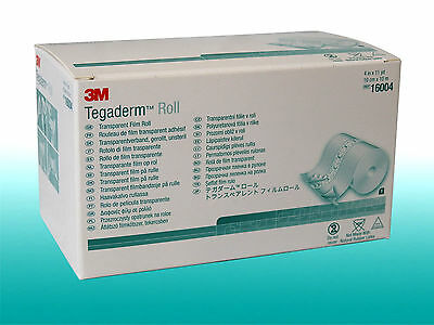 (3,40 €/m) Tegaderm Roll transparenter Wundverband 10cm x 10m Tattoo Folie