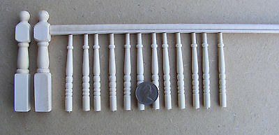 1:12 Scale DIY Banister Set Spindles Newel Post & Handrail Tumdee Dolls House