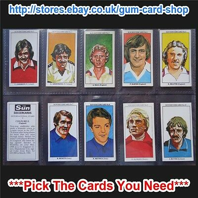 The Sun Soccercards 1978-79 (Vg) (Card 1 To 100) *please Choose Cards*