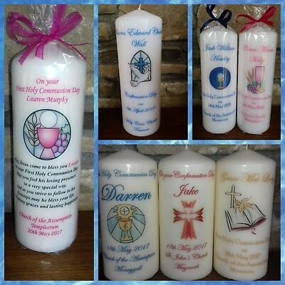 Personalised Communion, Confirmation and Christening Candle