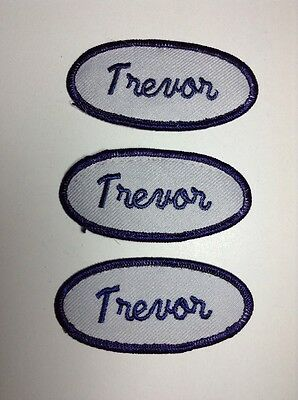 CASEY EMBROIDERED SEW ON NAME PATCH LOT OF 3 ~ NAME TAG
