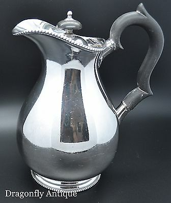 Silver Plated Antique Coffee Pot Hot Water Victorian Circa 1890