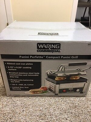 Waring Commercial WPG150 Compact Italian-Style Panini Grill 120-volt