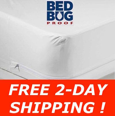 Bed Bug Allergen Waterproof Zippered Vinyl Mattress Cover Protector Encasement