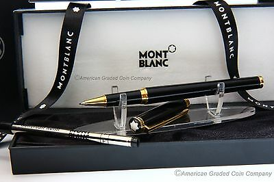 MONTBLANC NOBLESSE OBLIGE- Black & Gold-Rollerball/Fineliner -  NEW in BOX!!
