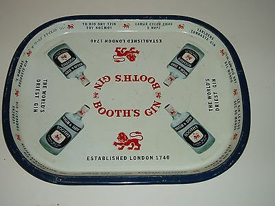 Vintage BOOTH'S GIN Metal Tray RARE FIND
