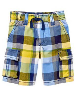 NWT Gymboree Boy ISLAND HOPPER Blue and Yellow Plaid Shorts  Size 2T