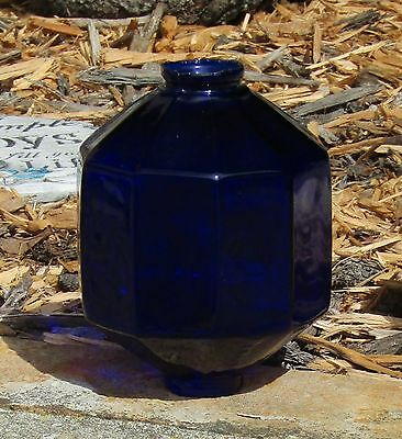 VINTAGE 10 Sided D&S COBALT BLUE GLASS Lightning Rod Ball - Mint Condition