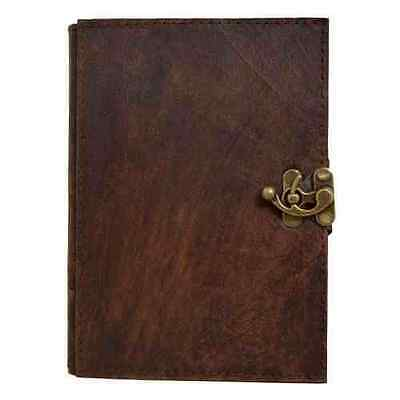 Handmade Real Leather Refillable Journal Brown Diary Notebook Sketchbook Plain