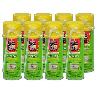 Dow Great Stuff Pestblock Insulating Foam Sealant, 12 oz, Case of 8 Cans