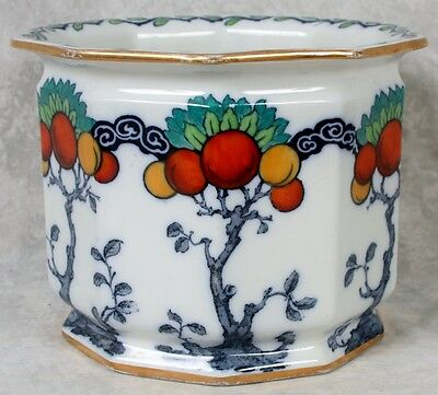 Antique Keeling Co Losol Ware Chandos Oranges Jardiniere Planter Burslem England