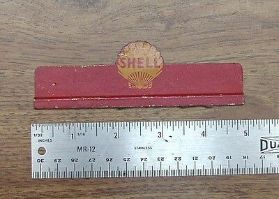 """Vintage Metal Shell Oil Advertising Piece,4-13/16"""" Long X 1-9/16"""" Tall,Unusual"""