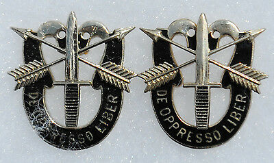 Matched Set of Special Forces Double Skull Distinctive Insignia (DI)