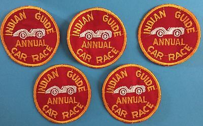 5 Lot Vintage 1960's YMCA Adventure Indian Guides Annual Car Race Patches B