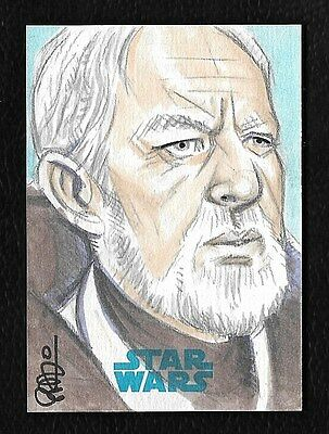 2015 Topps Star Wars Journey to the Force Awakens Sketch Artist by Scott Blair