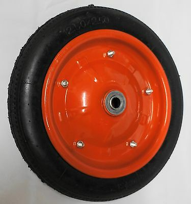 "12.5"" Wheelbarrow Wheel 12.5 x 2.5  DAYTEK STYLE Pneumatic 16mm Bearing"