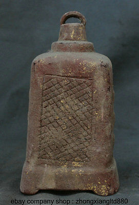 """6.8"""" Collect Rare Antique Chinese Buddhism Temple Crystal Bell Zhong Hang Clock"""