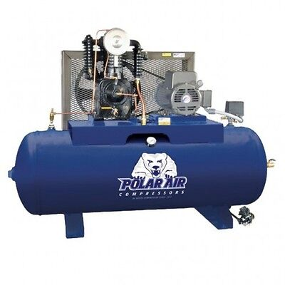 5 HP 2 Stage Single Phase 80 Gallon Horizontal Air Compressor
