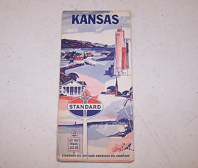 Standard Oil Kansas Map - Probably from the 60's