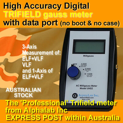 UHS2 Digital Trifield milligauss EMF meter - pro grade with data port