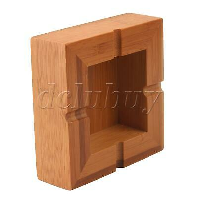 Bamboo Square Cigarette Ashtray Smoking Cigar Ashes Tray 10cm Wood Color