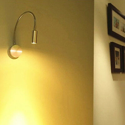 3W/1W Wall Mounting Light Flexible Goose Neck Hose LED Spotlight Reading Lamp