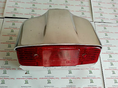 Lambretta Li S1 2 Rear Backlight Tail Light Lamp Metal Polished