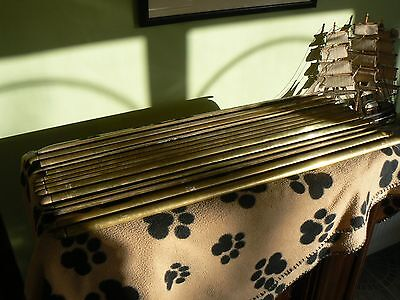 13 Antique / Edwardian Brass Stair Rails - 28 inches