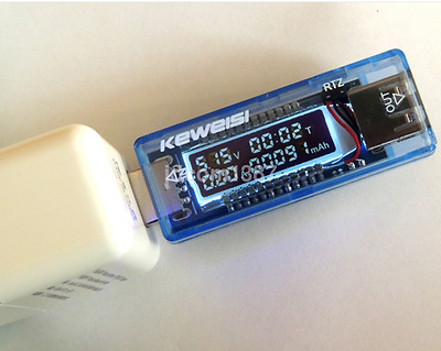 1pc LCD USB Voltage Current Detector Mobile Power Charger Digital Tester Meter