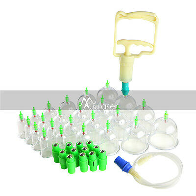 6-24 Cups/set Medical Chinese Vacuum Cupping Body Massage Therapy Healthy Care