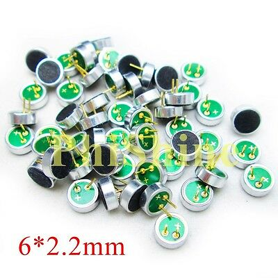 10PCS 6*2.2mm Electret Condenser Microphone MP3 Microphone Microphone Head