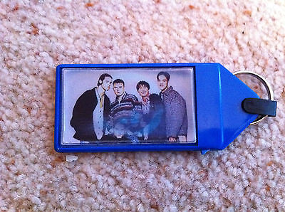 Take That Holographic Keyring (Robbie Williams, Gary Barlow, Mark Owen, Orange)