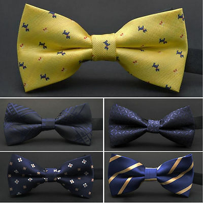 11 Colors New Mens Pre Tied Wedding Party Fancy Plain Necktie tie Bow Ties MEN