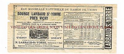 1900s France St Yorre Vichy Medicinal Mineral Water label Stephens Coll.