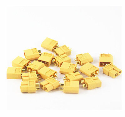 4/10/20pcs XT60 Male & Female Bullet Connectors Plugs for RC Lipo Battery NEW