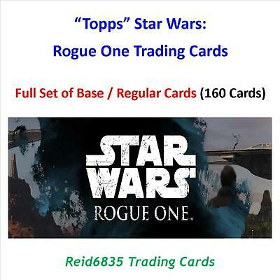 """""""Topps"""" Star Wars: Rogue One: - Full Base / Regular Cards Set (160 Cards)"""