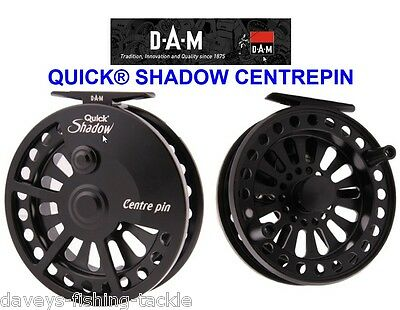 Dam Quick Shadow Centrepin Reel Center Pin For Sea Game Trout Fly Rod Fishing