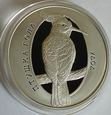2013 Belarus 10 roubles THE HOOPOE 1/2 oz Proof Silver