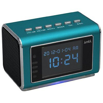 Jumbl Mini Hidden Spy Camera Radio Clock w/Infrared Night Vision - Blue